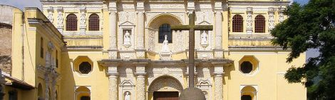 """La Merced Church Antigua Guatemala 2"" by Rambling Travelerderivative work: MrPanyGoff - http://www.flickr.com/photos/ramblingtraveler/1149203686/Uploaded by MrPanyGoff. Licensed under Creative Commons Attribution-Share Alike 3.0 via Wikimedia Commons - http://commons.wikimedia.org/wiki/File:La_Merced_Church_Antigua_Guatemala_2.jpg#mediaviewer/File:La_Merced_Church_Antigua_Guatemala_2.jpg"