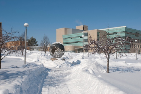 Ferris Quad in Winter, Photo from Ferris State University SmugMug collection.