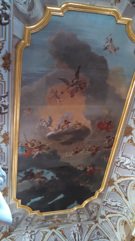 Ceiling of Hermitage. Photo by Jacey Culross, used with permission by the Honors Program at Ferris State
