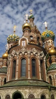 One of the many churches in St. Petersburg. Photo by Jacey Culross, used with permission by the Honors Program at Ferris State
