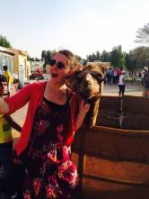 Camel Selfie, Photo by Melanie Lobsinger, used with permission by The Honors Program at Ferris State