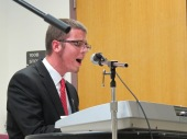 "Blake McGregor singing ""Swim"" by Jack's Mannequin - Photo courtesy of The Honors Program at Ferris State University"