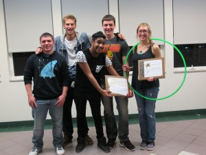 Group/Judge's Choice & Crowd Favorite winners - Photo Courtesy of The Honors Program at Ferris State University