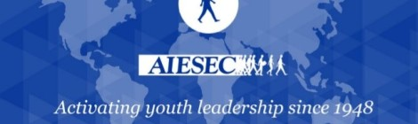 AIESEC Logo, courtesy of AIESEC at Ferris State University, with permission from Stephanie Mellinger