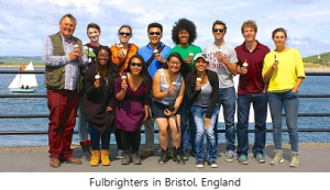Fulbrighters in Bristol, England. Courtesy of marketing materials for UK Fulbright Summer Institutes.