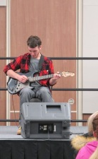 """Dakota Cortez performs """"Space Oddity"""" by David Bowie. Courtesy of Ferris Honors"""