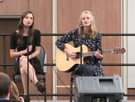 "Megan McCormick and Kat Reuter perform ""Tenerife Sea"" by Ed Sheeran. Courtesy of Ferris Honors"