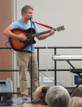 "Josh Olszewski performs ""Coming Home/Stand By Me"" Medley by Leon Bridges and Ben King. Courtesy of Ferris Honors"
