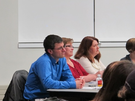 Variety Show Judges; Professors Isler, Savides, and Williams. Courtesy of Ferris Honors