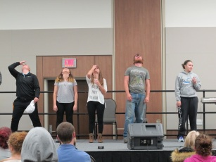 Cookie Face Crowd Participation. Courtesy of Ferris Honors