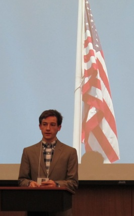 John Bailey, DNC Chairman, opens with an appeal for party loyalty. Used with permission from the photographer.