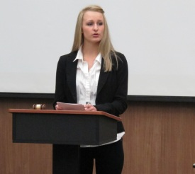 COMH Student Megan McCormick Speaks. Used with permission from the photographer.