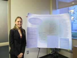 Alexandra Myaard with Poster. Courtesy of the photographer.