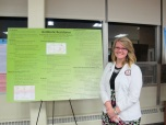 Autumn Vanden Berg with her poster. Courtesy of the photographer.