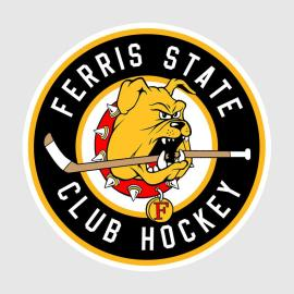 Ferris State Club Hockey Logo, courtesy of Ferris State University Club Hockey Team Ferris State Club Hockey Players. Courtesy of the Ferris State University Club Hockey team http://www.ferrisstateclubhockey.com/Photo-Gallery.html