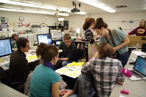 Graphic Design Students at Ferris State University. Courtesy of the Graphic Design Program at Ferris State University.