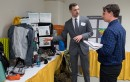 Eli Fesler explains his Senior Symposium Project. Courtesy of Ferris State University's SmugMug.