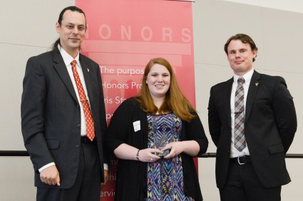 Senior Symposium Winner, Kathryn Wilson. Courtesy of Ferris State University's SmugMug.