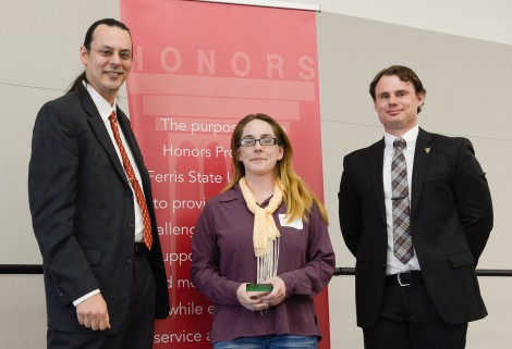 Senior Symposium Winner, Shaughna Langerak. Courtesy of Ferris State University's SmugMug.