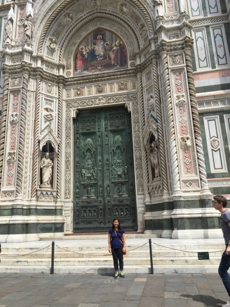 Caitlyn Hain in Florence. Courtesy of Ferris State University Honor's Program student, Caitlyn Hain