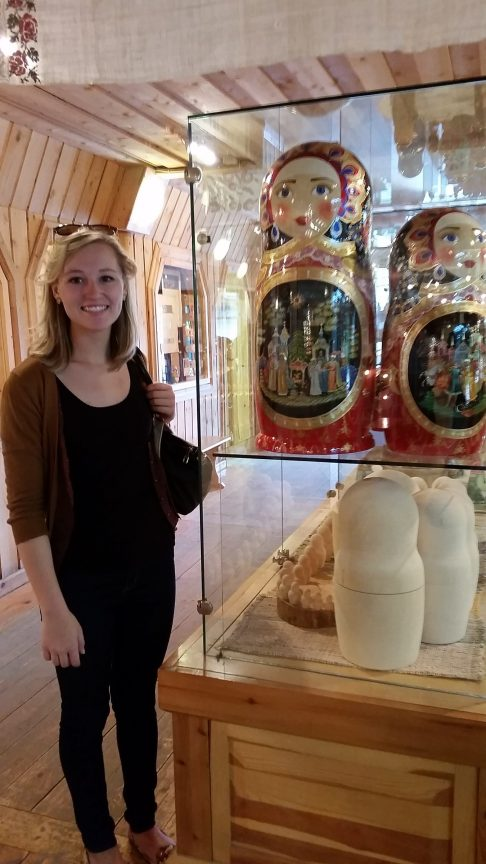 Hannah in Russia. Courtesy of Ferris State University Honors Program student, Hannah Lamberg.