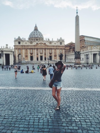 Chandler in Rome. Courtesy of Ferris State University Honors student, Chandler Owen.