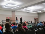 Emcees Bianca and Jessica. Courtesy of the photographer.