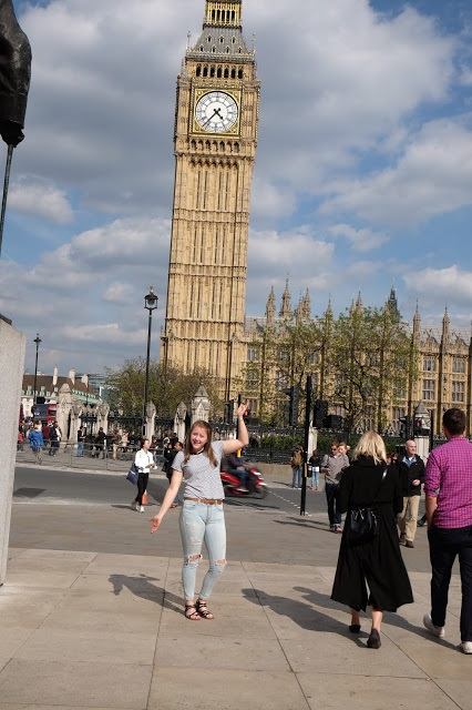 Lauren and Big Ben. Courtesy of honors student, Lauren Stefl.
