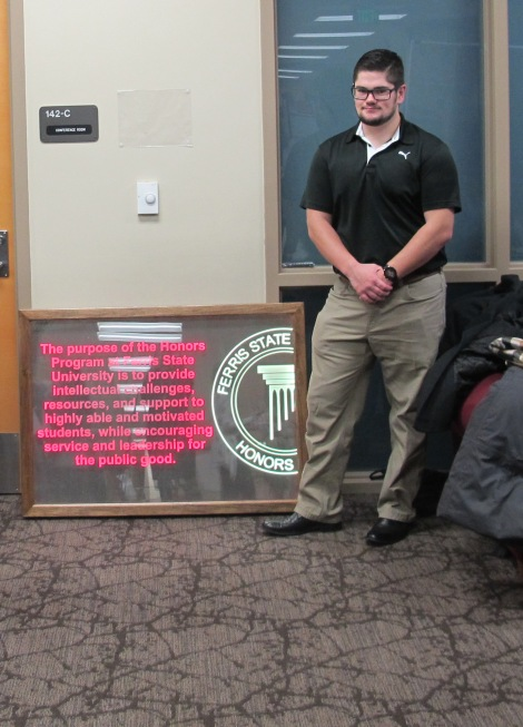 Bryce Morgan with his Symposium Project. Courtesy of the photographer.