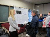 Hannah Lamberg presents her poster. Courtesy of the photographer.