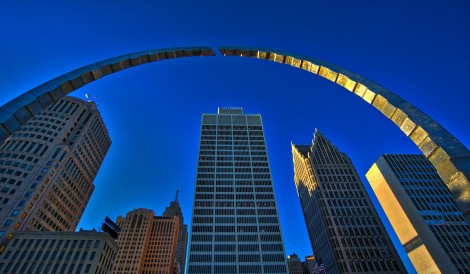 The Hart Plaza Arch in downtown Detroit. Photo by sbmeper1, 2016. Courtesy of Humanity in Action.