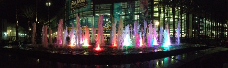 Fountains at Hotel. Courtesy of the photographer and honors student, Daniel Amrhein.