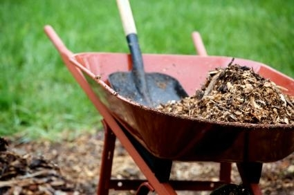 Wheel Barrel and Shovel Image. Courtesy of the Volunteer Center at Ferris State University. https://orgsync.com/18804/news_posts/217658