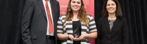 Chelsey Burr, Symposium Winner 2017. Courtesy of Ferris State photographer Bill Bitzinger.