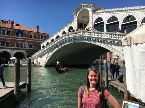 C. Masterson in Florence. Courtesy of Chloe Masterson.