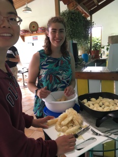 Costa Rican Food. Courtesy of Honors student, April Wilson, at Ferris State University.
