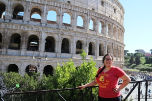 Vanessa in Rome. Courtesy of Ferris State University Honors Student, Vanessa Mathes.