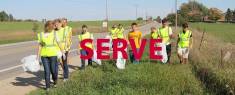 Serve Banner. Courtesy of the Honors Program at Ferris State University.