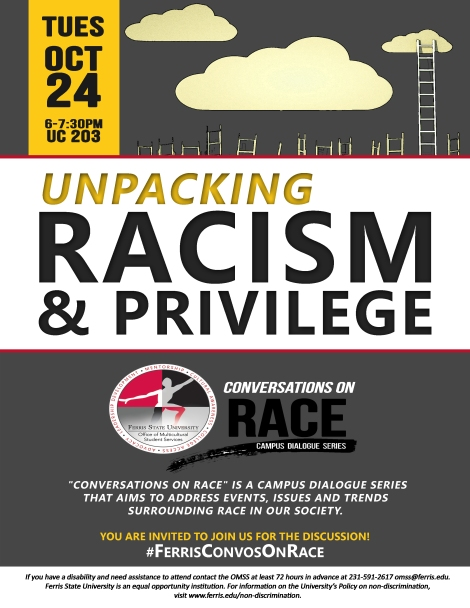 ConvosOnRace Flyer. Courtesy of the Office of Multicultural Student Services at Ferris State University.