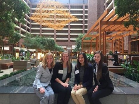 Ashley May and friends at Gamma Iota Sigma Conference. Courtesy of Honors student, Ashley May.