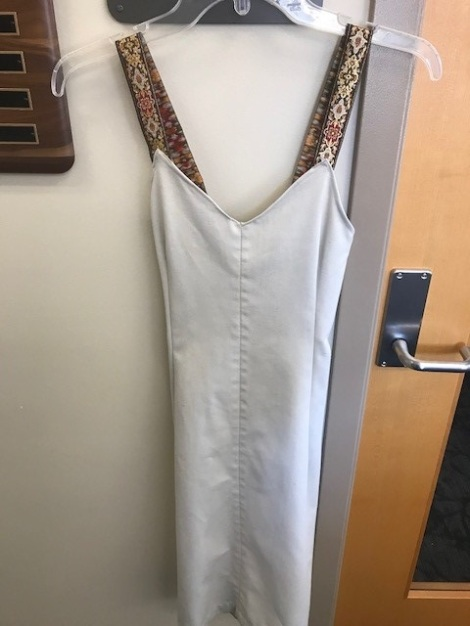 Khaki Pant Dress. Courtesy of an Honors student for the Honors 2018 Art Show.