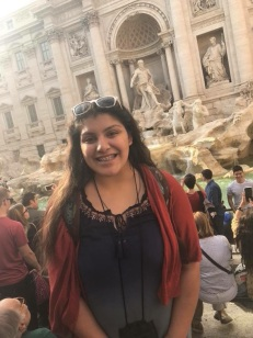 Arianna Lozano in front of the Trevi Fountain. Courtesy of Honors student, Arianna Lozano.