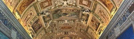 Gallery ceiling in Italy. Courtesy of Honors student, Arianna Lozano.