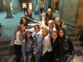 Maeve Smith with a group of friends in Italy. Courtesy of Honors student, Maeve Smith.
