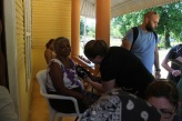 Seeing patients in Dominican Republic. Courtesy of Honors student, Paige Kramer.