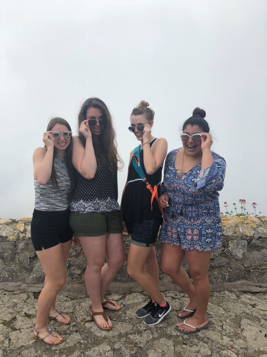 Ayanna Williams with friends in Italy. Courtesy of Honors student, Ayanna Williams.