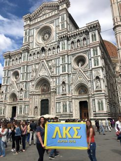 Ayanna Williams in Florence. Courtesy of Honors student, Ayanna Williams.