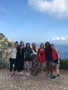 Jordan Dawkins with a group of friends in Italy. Courtesy of Honors student, Jordan Dawkins.