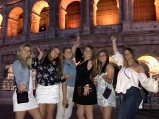 Lilly George with friends at Colosseum. Courtesy of Honors student, Lilly George.