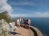 Lilly with friends in front of Mediterranean. Courtesy of Honors student, Lilly George.